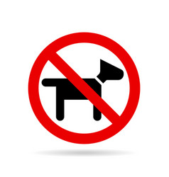 No dogs icon vector