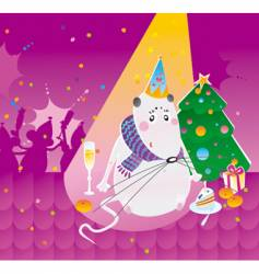 Party mouse vector
