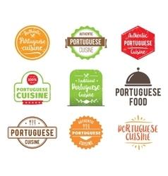 Portuguese cuisine label vector