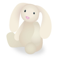 Rabbit stuffed animal vector
