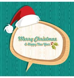 Retro wooden Christmas sale set vector image
