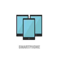 smartphones isolated flat design vector image vector image
