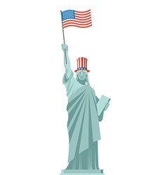 Statue of Liberty hat Uncle Sam Independence Day vector image vector image