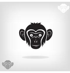 Stylized head of a monkey vector
