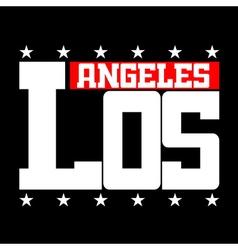 T shirt typography Los Angeles CA stars vector image vector image