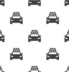 taxi seamless pattern vector image