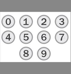 typewriter keys numbers vector image vector image