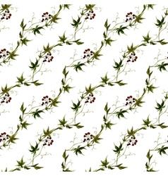 Watercolor grape pattern vector