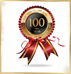 100 years anniversary label vector image vector image