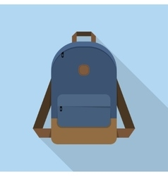 Backpack school bag vector image