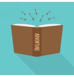 Book icon concept of adventure fiction genre vector