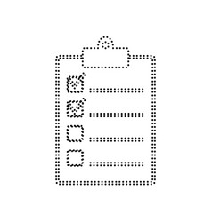 Checklist sign   black dotted vector