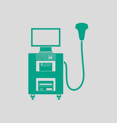Ultrasound diagnostic machine icon vector