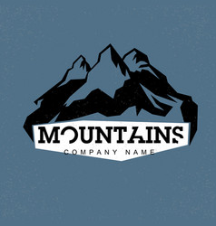 Blue peaks mountains  abstract logo for vector
