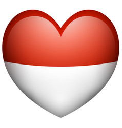 Icon design for indonesia flag vector