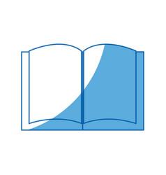Open book library school utensil vector