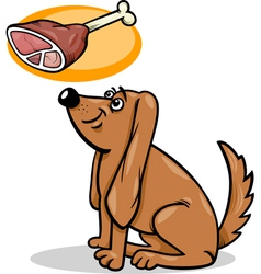Dog and haunch cartoon vector
