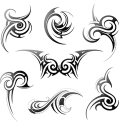 Tribal art set vector