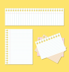 Back to school paper with lines vector