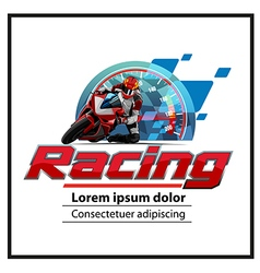 Logo motorsport vector