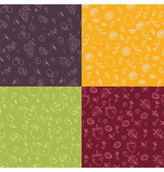 Fruit seamless texture vector
