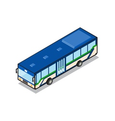 Public transportation blue aircondition bus vector