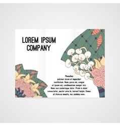 Brochure with abstract floral pattern vector