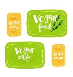 Vegan food labels vector image