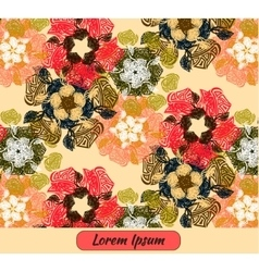 Flower art template card frame vector