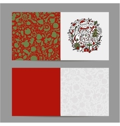 Christmas card sketch for your design vector
