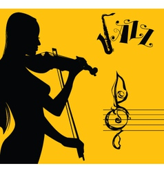 sexy jazz vector image