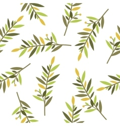 Floral seamless pattern with branches of laurel vector