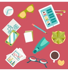 Endless working desk vector