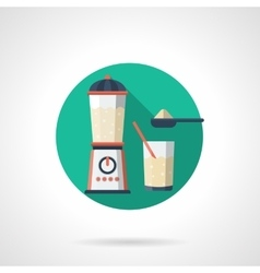 Whey drink detailed flat color icon vector