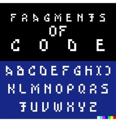 Old computer bitmap pixel font vector