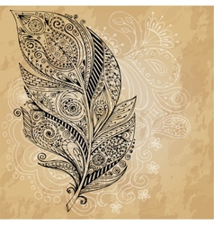 Artistically drawn stylized tribal graphic vector
