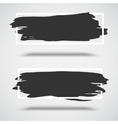 Black grunge banners on white background with vector