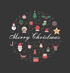 Christmas 08 09 vector image