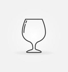 cognac glass linear icon vector image vector image