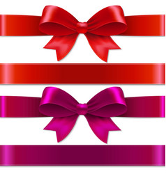 color bows vector image vector image