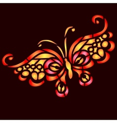 Colorful butterfly vector image vector image