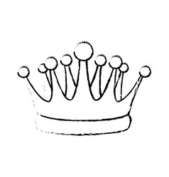 Crown kindom royalty luxury icon vector