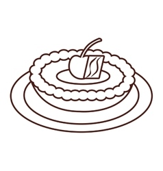 Delicious sweet apple pie vector