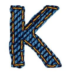 Farmerke tekstura slovo K vector image vector image