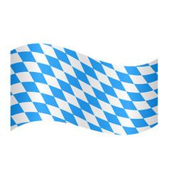 flag of bavaria waving on white background vector image vector image