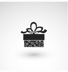 Gift box icon with ribbon wrapping pattern design vector