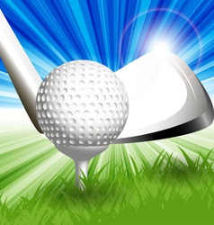 gold club tee-off vector image vector image
