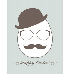 Hipster Easter vector image