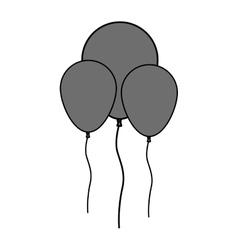 Isolatd balloons of birthday design vector