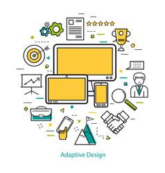 line art concept - adaptive design vector image vector image
